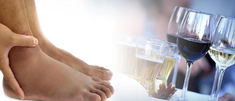 Ноги и алкоголь