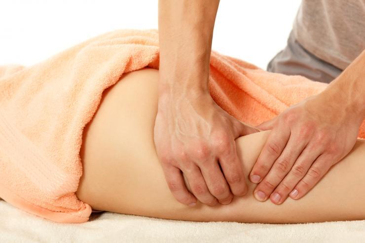 Как уменьшить  объем ног выше колена?